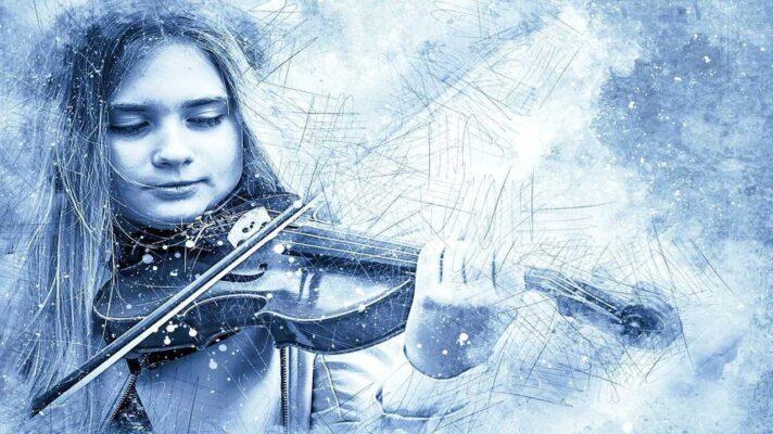 niña violin