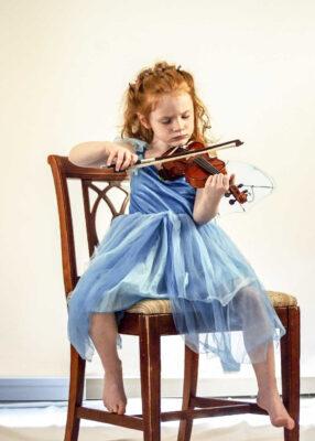 Niña violín